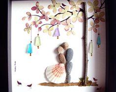 Gift Pebble Art-Unique Engagement Gift-Personalized Hochzeit Hochzeit personalisierte Geschenk paar Geschenk-Braut und Bräutigam Geschenk - Pebble Art