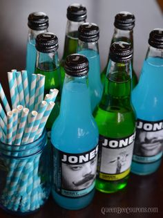 Jones Soda (Blue and Green) - Seahawks Party Ideas - Queen Bee Coupons & Savings