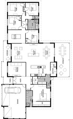 Interesting Find A Career In Architecture Ideas. Admirable Find A Career In Architecture Ideas. Bungalow Floor Plans, Home Design Floor Plans, Plan Design, House Floor Plans, 5 Bed House, 5 Bedroom House Plans, Best House Plans, Dream House Plans, Ranch Style Homes