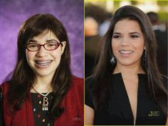 Me in grade and now America Ferrera, Ugly Betty, Got The Look, Then And Now, Being Ugly, Tv Series, Fangirl, Tv Shows, Geek Stuff
