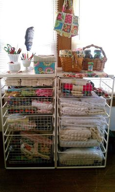 Sew Shabby Designs- Fabric organization in my sewing room