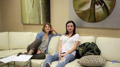 Elise Bauman and Natasha Negovanlis in Almost Adults extras Carmilla Series, Elise Bauman, Cold Weather Outfits, Cinnamon Apples, Bean Bag Chair, Peeps, Bae, Fandoms, Movies