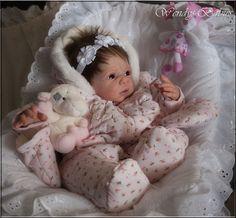 A*WENDYS BABIES* A BEAUTIFUL LIFELIKE REBORN / NEWBORN BABY GIRL DOLL #CarmenbyAdrieStoete