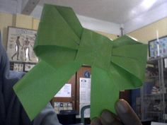 my first 'origami bow'