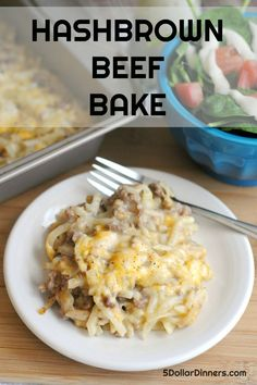A delicious, freezer friendly hashbrown and beef bake - perfect recipe for meat and potatoes lovers! A delicious, freezer friendly hashbrown and beef bake - perfect recipe for meat and potatoes lovers! Beef Recipes For Dinner, Ground Beef Recipes, Cooking Recipes, Easy Recipes, Healthy Recipes, Asian Recipes, Keto Recipes, Vegetarian Recipes, Budget Cooking