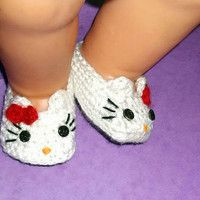 Hello Kitty  Baby Booties CROCHET PATTERN (PDF file),
