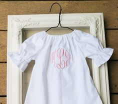 H monogram art harmony girls name meaning poster girl gifts monogrammed coming home outfit white baby dress master circle monogram baby girls shower gift long sleeve coming home outfit gown negle Images