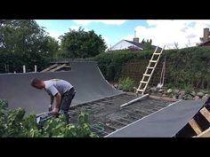 How we build a mini ramp in concrete - YouTube Mini Ramp, Skate, Concrete, Backyard, Building, Youtube, Diy, Patio, Bricolage