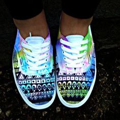 e90295f5994d Watercolor Tie Dye Tribal Vans. EVERYONE I FOUND THIS ON WANELO! ITS AN  AMAZING · Converse ShoesShoes ...