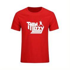 Fashion Heavy Metal Rock Band Thin Lizzy - Short Sleeve Pop Music T Shirt