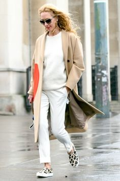 nice neutrals. #ElinaHalimi in Paris.