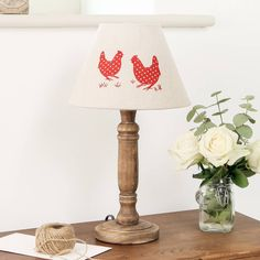 Country Hen Table Lamp With Shade