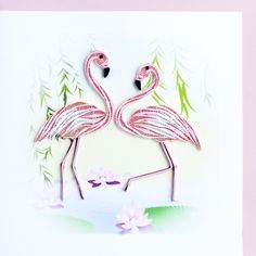 quilled Flamingo - bjl