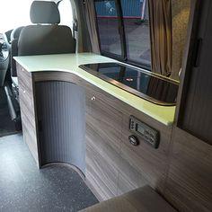 Campervan Hire Vw Transporter Camper, Vw T5 Campervan, T4 Camper, Transit Camper, Camper Caravan, Van Conversion Layout, Van Conversion Interior, Camper Van Conversion Diy, Vw T5 Interior