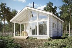 This Comfortable Tiny House Design (with Plans) Little House Plans, A Frame House Plans, Tiny House Plans, Prefab Home Kits, Prefab Homes, Cabin Homes, Minimal House Design, Tiny House Design, Steel Frame House