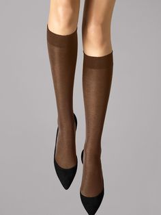 4f7f278eafa Other Womens Hosiery and Socks 11523  Wolford Velvet De Luxe 50 Knee Highs  Color
