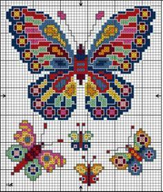 Best 12 Psychedelic Butterflies – Page 294422894386607258 Cross Stitch Bookmarks, Mini Cross Stitch, Cross Stitch Heart, Cross Stitch Animals, Butterfly Cross Stitch, Cross Stitch Flowers, Butterfly Dragon, Monarch Butterfly, Modern Cross Stitch Patterns