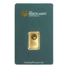 The Perth Mint 5g Gold Bar features a distinctive logo design of a majestic swan on the bars obverse. Details of the metal purity and weight also appear.  The reverse of the bar details diagonally repeating kangaroos.  Each bar weighs 5.00g and is 999.9 Fine Gold. Manufactured by the Perth Mint, Australia. Stamped bar. Packaged in an assay card certifying weight and purity. Orders in multiples of 25 will typically be supplied in sealed boxes.