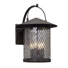 Vintage Basket Lantern Outdoor Sconce - Large french_iron