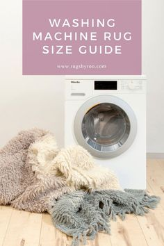 """""""Is the washable rug going to fit in my washing machine?"""" It would suck to buy a washable rug and then find out later that its too big for your washer. We've put together a sizing guide to help you figure out what size washing machine you need for the size of rug you want. Machine Washable Rugs, Rug Size Guide, Washer, Washing Machine, Home Appliances, Big, House Appliances, Appliances"""