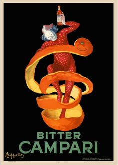 Leonetto Cappiello      Bitter Campari Advertisement     1921