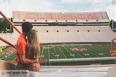 Clemson Girl: Wedding Wednesday - Siara and Justin's Clemson Engagement Photos and Love Story