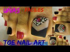 Diseños bonitos para uñas de los pies otoño e invierno /Pretty design toe nail art - YouTube