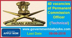 INDIAN ARMY RECRUITMENT 2016 APPLY FOR ENGINEERING GRADUATES ~ Government Daily Jobs