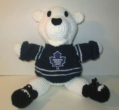 Handmade Crochet Carlton Toronto Maple Leaf by Lauriescrochetrus, $20.00 Toronto Maple Leafs, Crochet Ideas, Dolls, Inspired, Knitting, Trending Outfits, Random, Handmade Gifts, Crafts