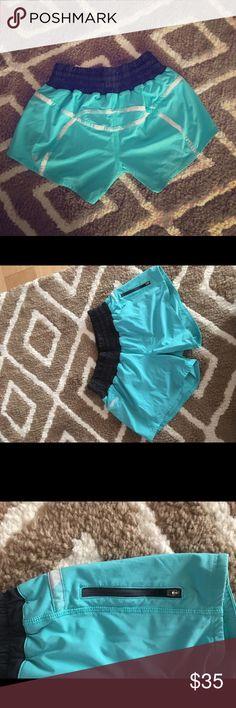 Lululemon running wet dry shorts Turquoise Lululemon shorts lululemon athletica Shorts