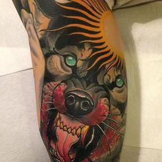 Wolf Tattoo by Håkan Hävermark #wolf #wolftattoo #neotraditionalwolf #neotraditional #neotraditionaltattoo #neotraditionaltattoos #neotraditionalartist #swedishtattoos #HakanHavermark