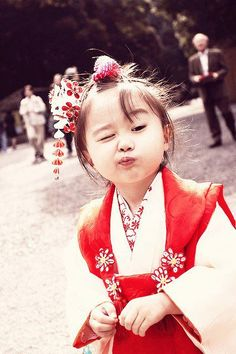 Love this kid.  Modern Japanese girl for certain.