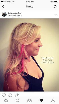 Pink on blonde