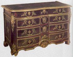 kingwood , ebony commode in Louis XIV style