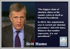 [VIDEO LINK] #BritHume ~ Planned Parenthood
