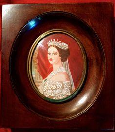 Antique MINIATURE PORTRAIT OF Impress Eugénie