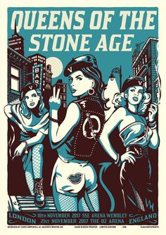Queens of the Stone Age (Berlin Zitadelle Spandau) - Jacknife Prints Tour Posters, Band Posters, Music Posters, Pearl Jam, Music Flyer, Music Artwork, Poster Pictures, Stone Age, Comic