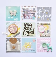 Paper Issues: Crate Paper Notes & Things Scrapbook Layout - Grid Style