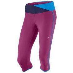 Nike Twisted Running Capri - Women's - Running - Clothing - Rave Pink/Night Blue/Blue Glow/Matte Silver
