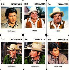 1960's BONANZA Western TV Show Card Set From Germany