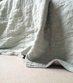 Handgemaakte linnen quilt