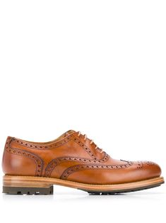 Berwick Shoes Klassische Budapester In Cuero Lavato Berwick Shoes, Brogues, Brown Leather, Oxford Shoes, Women Wear, Dress Shoes, Lace Up, Mens Fashion, Fashion Design