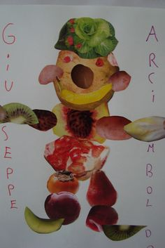 Learning Italian Like Children Nursery Activities, Craft Activities, Giuseppe Arcimboldo, Primary School Art, Fruit Crafts, Art Curriculum, Cool Art Projects, Learning Italian, Fruit Art