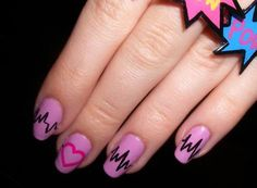 Trendy Valentine's Day Heartbeat Nail Art Designs - Reny styles