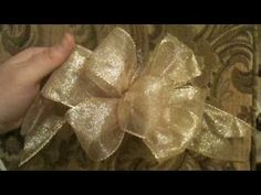 ▶ How to Make a Bow (step by step 1 video) SLOW with CC Crafts - YouTube