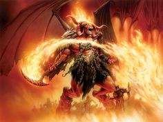 tattoos of hell and dragons My Demons, Angels And Demons, Evil Demons, Fallen Angels, Manado, Fantasy Creatures, Mythical Creatures, Dragons, Fire Demon