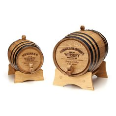 PERSONALIZED WHISKEY BARREL.  So cool!