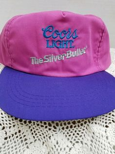 Vintage Coors Light beer The Silver Bullet snapback hat Cap Party Concert e0c57acd58d5