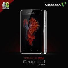 Get the futuristic design to bolster your style with #Videocon Graphite 1 V45ED. Explore more: https://www.videoconmobiles.com/graphite1-v45ed