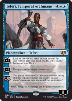 #mtg #magic thegathering teferi temporal archmage commander 2014 planeswalker mythic rare